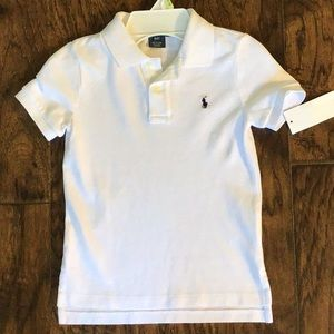 New with tags!!  Ralph Lauren white polo.  4T